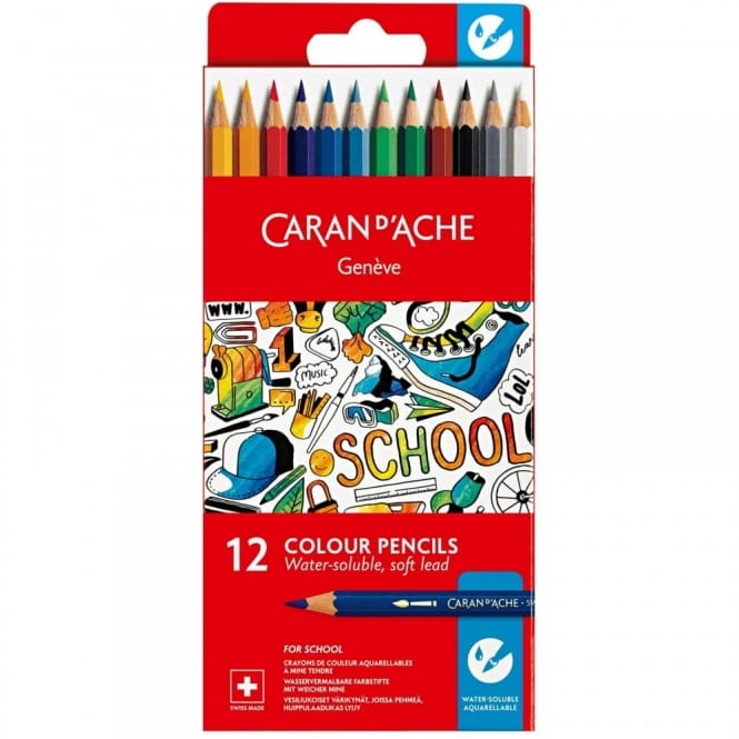 Geneve Water-Soluble Colour Pencils 12 Pack