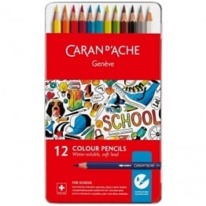 Geneve Water-Soluble Colour Pencils 12 Tin
