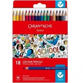 Geneve Water-Soluble Colour Pencils 18 Pack