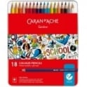 Geneve Water-Soluble Colour Pencils 18 Tin