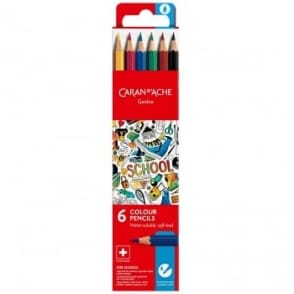 Geneve Water-Soluble Colour Pencils 6 Pack