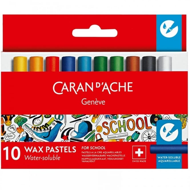 Geneve Water-Soluble Wax Pastels 10 Pack