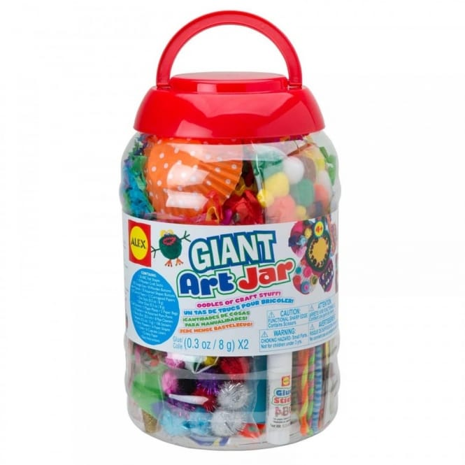 Giant Art & Craft Jar With Over 300 Pieces