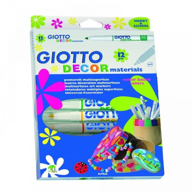 Giotto Decor Material Markers 12 Pack
