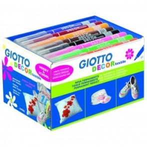Giotto School Pack Textile Markers - 48 Pack