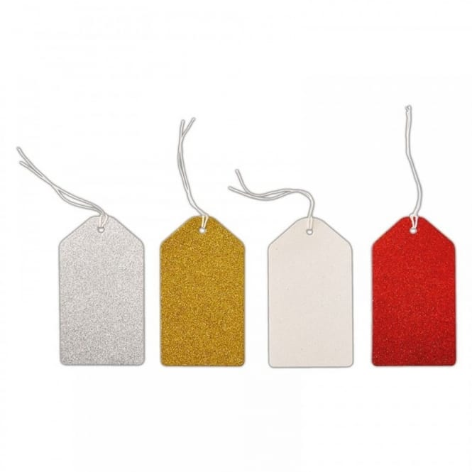 Glitter Gift Tags Assorted Colours*