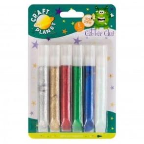 Glitter Glue 6 Sparkling Colours