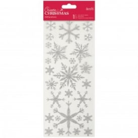 Glitterations Snowflakes Silver