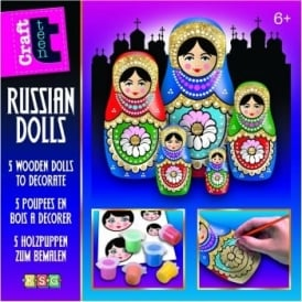 Glittery Russian Doll Paint Kit
