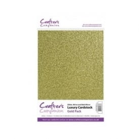 Gold Luxury Cardstock Glitter, Matt and Mirror