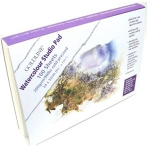 Goldline Watercolour Studio Pad - 100 Sheets  - 200gsm