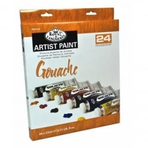 Gouache 24 x 21ml Tube Piece Set