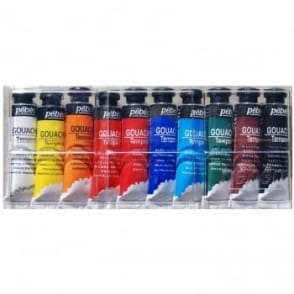 Gouache Tempera Paint Set 10ml x 10