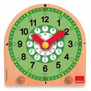 Goula Wooden Educational Clock