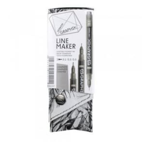 Graphik Line Maker Graphite Pack of 3