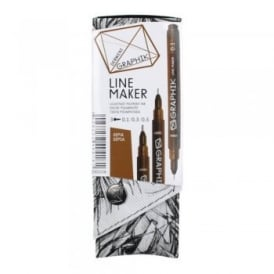 Graphik Line Maker Sepia Pack of 3