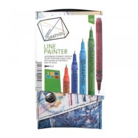 Graphik Line Painter -Set of 5 Pens 02