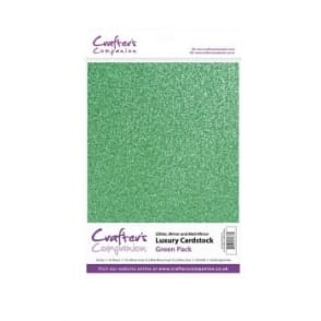 Green Luxury Cardstock Glitter, Matt and Mirror 30 Sheets