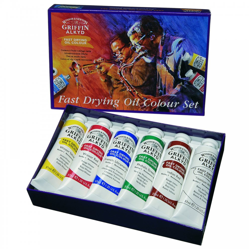 Griffin alkyd fast drying oil colour set for Fast drying craft paint