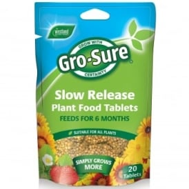 Gro-Sure Slow Release Plant Food Tablets - 20 Pack