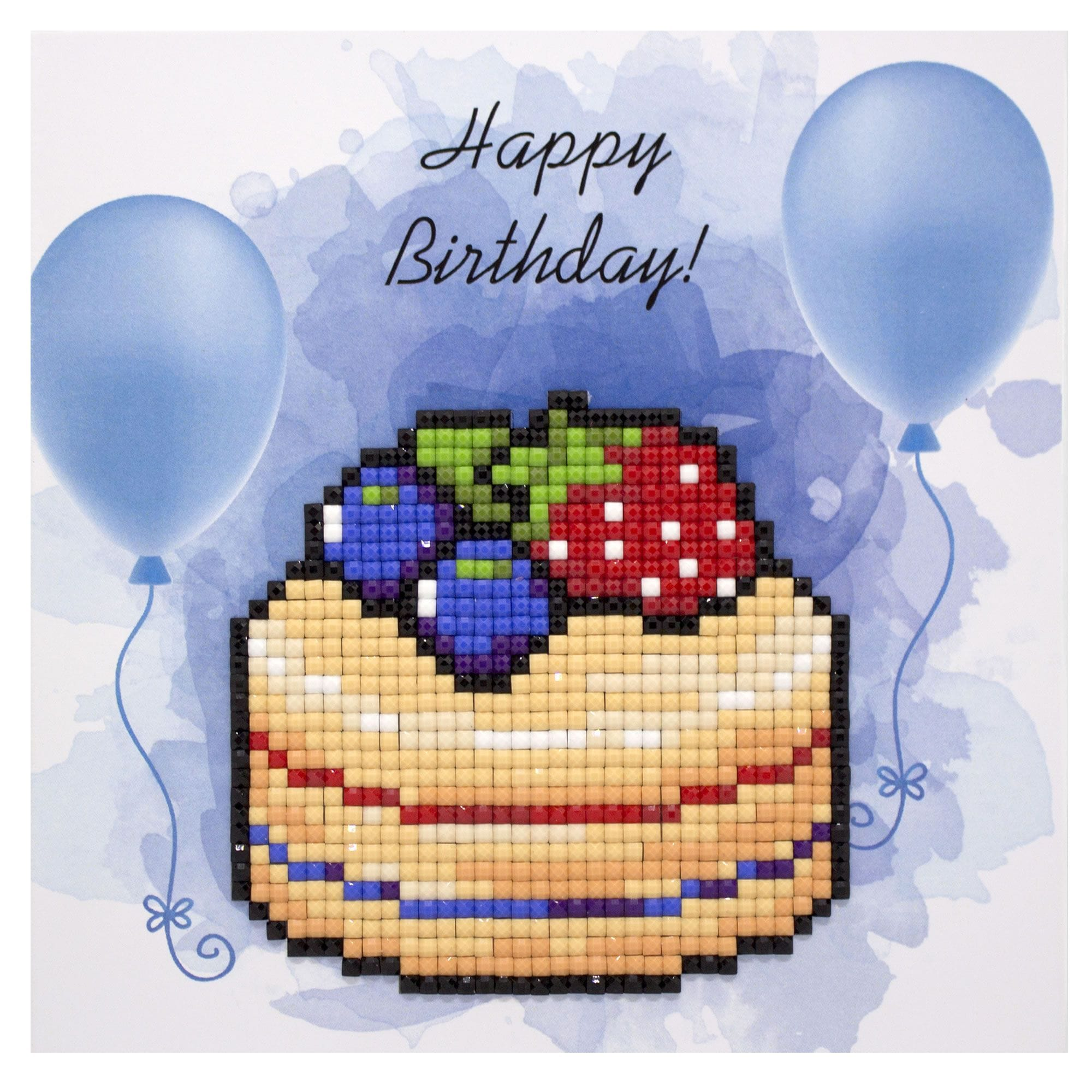 Outstanding Happy Birthday Cake Diamond Painting Postcard Kit Craftyarts Co Uk Funny Birthday Cards Online Aeocydamsfinfo