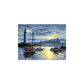 Harbour at Sunrise Large Painting By Numbers