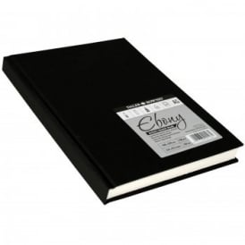 Hard Back Ebony Bound Sketch Pad White Pages A5