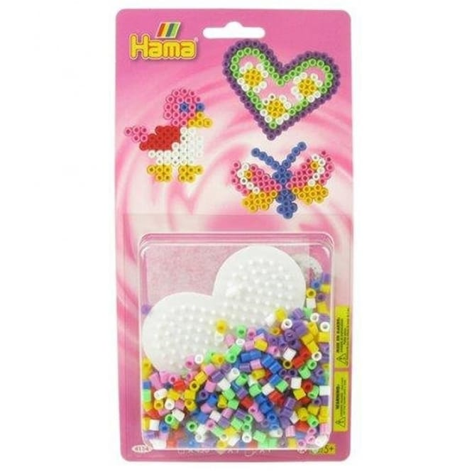 Heart Bead Pack - Pink