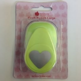 Heart Shaped Paper Punch 2.5cm