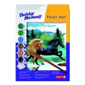 Hobby Moment Paint Art - Horses Paint by Number