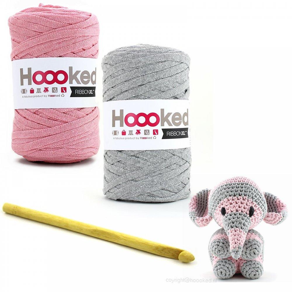 Crocheting Kit : Hoooked Maxigurumi Elephant Mo Crochet Kit - Hoooked Zpagetti from ...