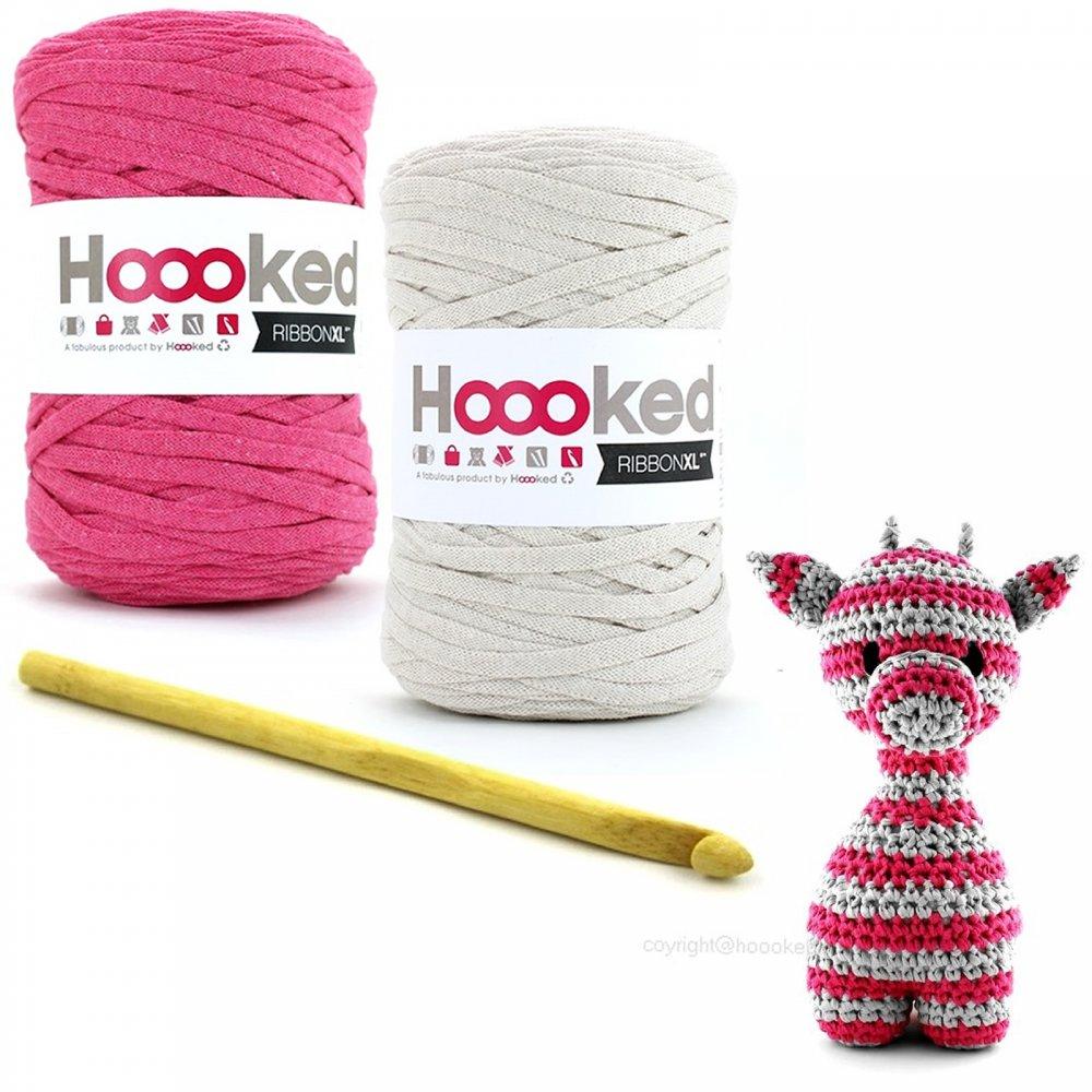 Crocheting Kit : ... ? Felts & Yarn Kits ? Hoooked Maxigurumi Giraffe Crochet Kit