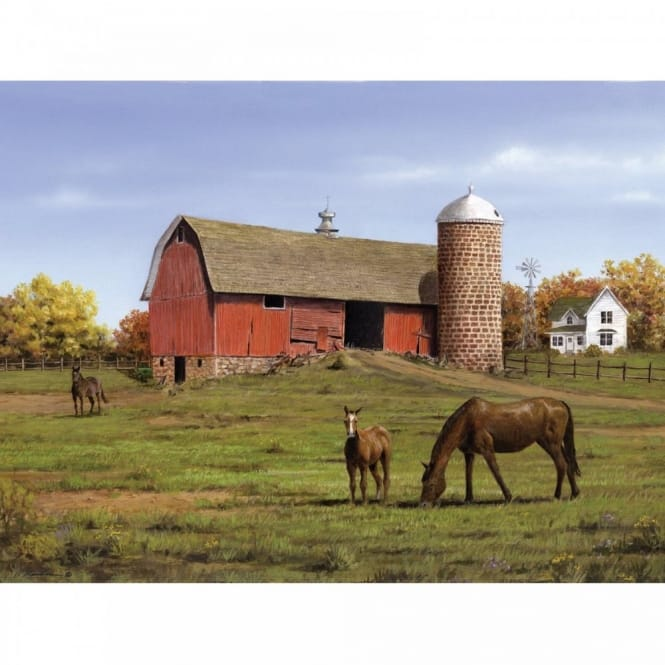 Horse and Barn The Artists Collection Painting by Numbers