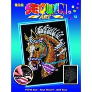 Horse Sequin Art