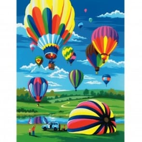 Hot Air Balloons Junior Paint By Numbers