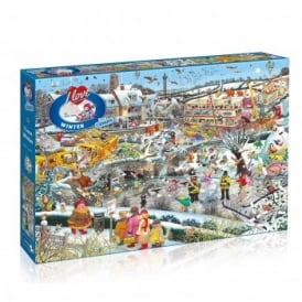 I love Winter - 1000 Piece Puzzle