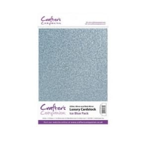 Ice Blue Luxury Cardstock Glitter, Matt and Mirror