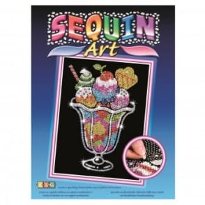 Ice Cream Sundae Sequin Art