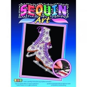 Ice Skates Sequin Art