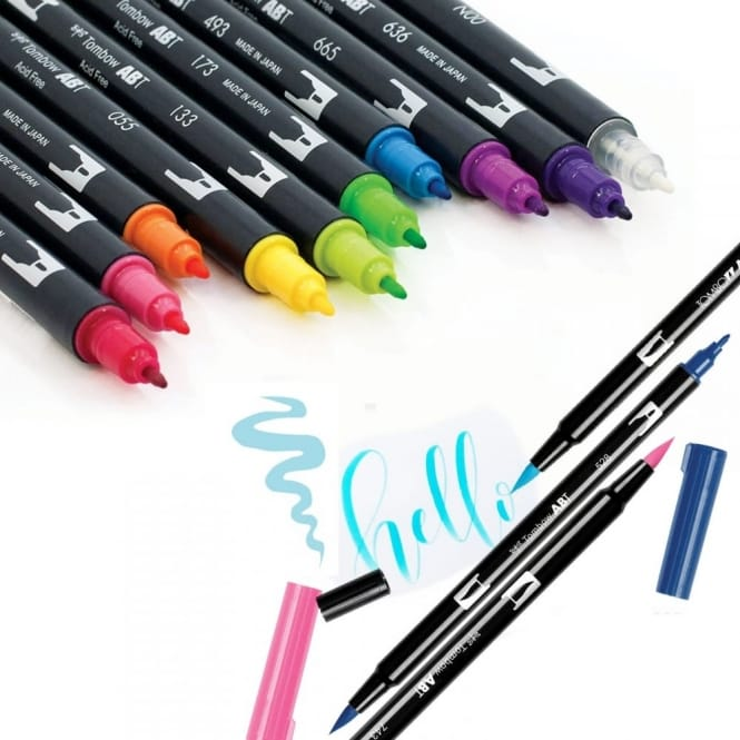 Individual Tombow ABT Brush Pens CraftyArtscouk - Tombow abt