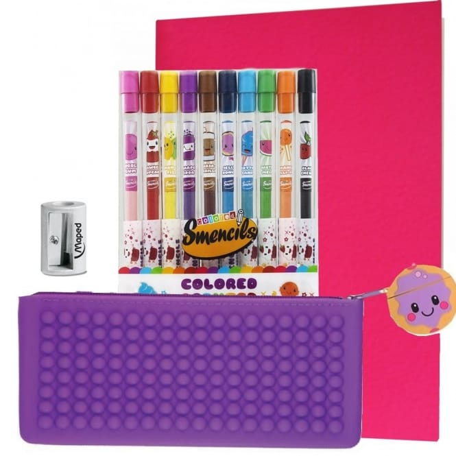 Jelly Doughnut Pink & Purple Smencil Case Bundle
