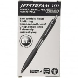 Jetstream Retractable Rollerball Pen - Box of 12 Black Ink