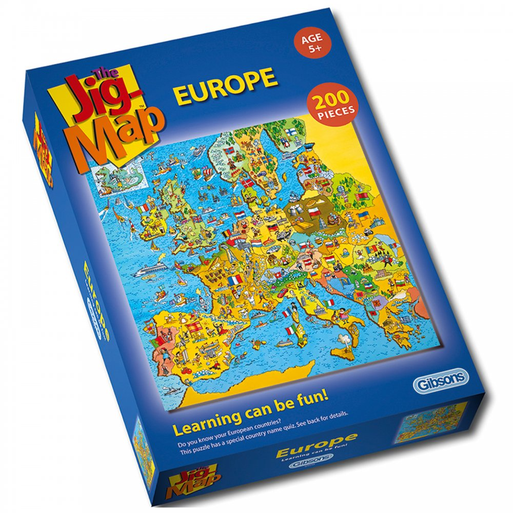 Map Of Uk Jigsaw.Jig Map Europe 200 Piece Puzzle