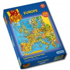 Jig-Map Europe - 200 Piece Puzzle