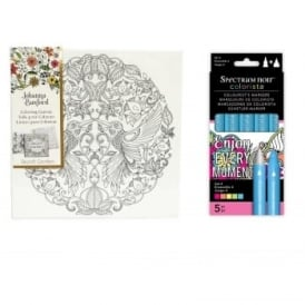 Johanna Basford Canvas + Spectrum Noir Colorista Markers Bundle