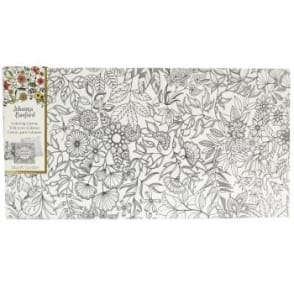 Johanna Basford Pre-printed Canvas - Flowers and Vines 306mm x 601mm