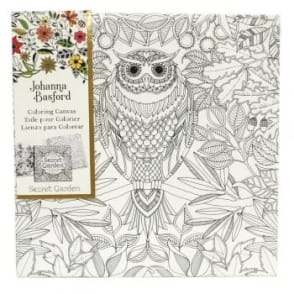 Johanna Basford Pre-printed Canvas - Owl 305mm x 305mm