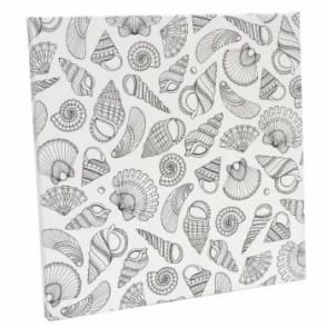 Johanna Basford Pre-printed Canvas - Sea Shells 305mm x 305mm