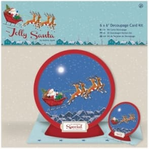 Jolly Santa Decoupage Card Kit
