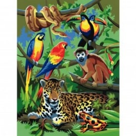 Jungle Scene Junior Paint By Numbers